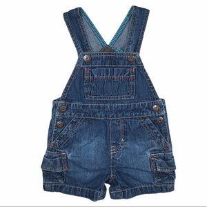 Brown Kid 6 Mo Autumn Brown Dyed Vintage Denim Baby Carters Denim Overall Shorts Size Newborn Infant 6 months Bib OVERALLS